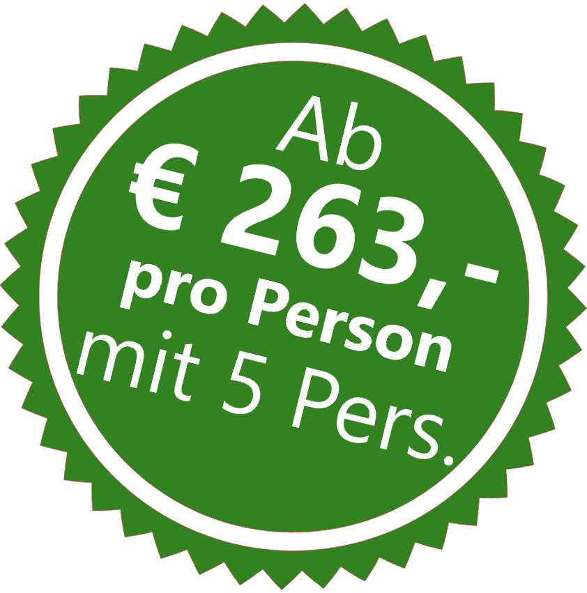 Wandern aufkleber ab 5 Personen 263 €