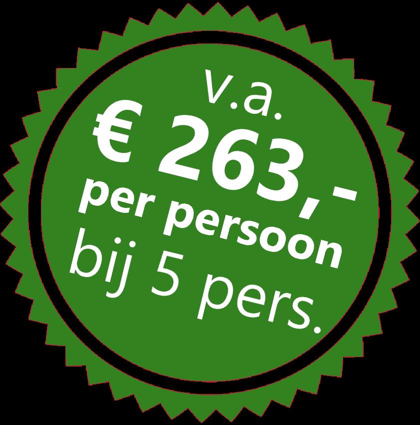 Wandelen Sticker vanaf 5 personen € 263