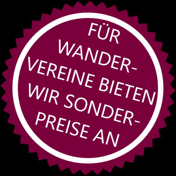 Wandern Stern Sonderpreise Wandervereine