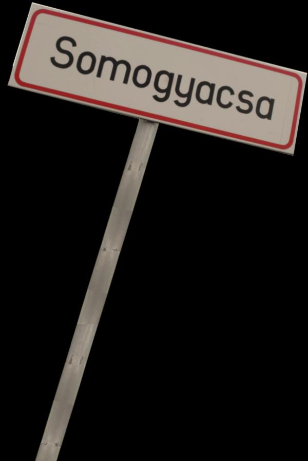 Vakantie Plaatsnaambord Somogyacsa