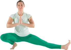 Yoga lady green
