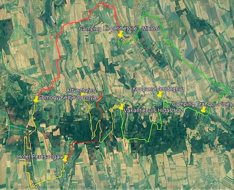 Google map landkaart Koppanyvolgy natuurpark