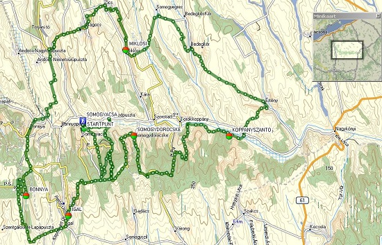 Garmin GPX map  Koppanyvolgy natural park