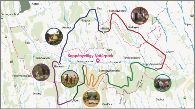 Google map Koppanyvolgy naturepark